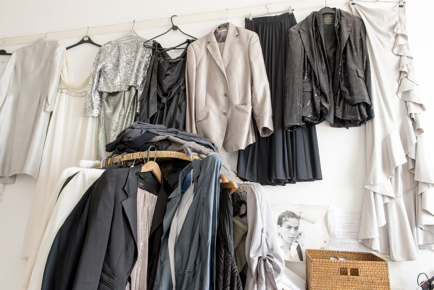 In Sassy's own smaller bedroom collections of vintage dresses, shoes and belts line the walls