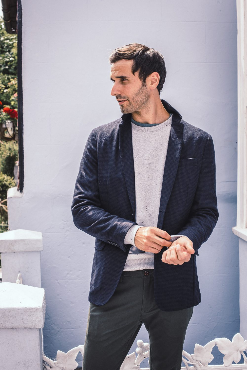 Build up layers with a sweatshirt over a classic T, under a  jacket