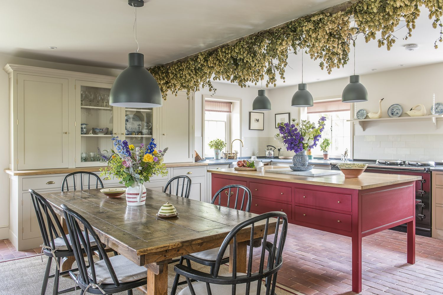 Evernden Interiors sourced the antique kitchen table. The kitchen is by Plain English