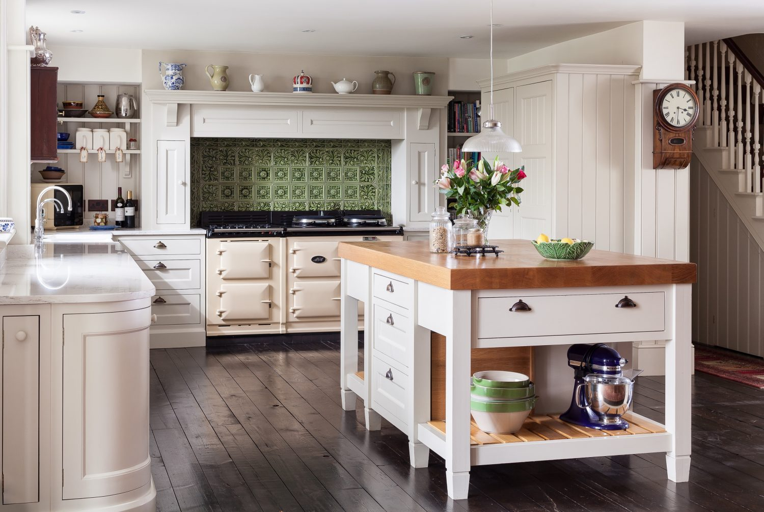 Jones Britain Victorian Hand Painted kitchen, with oak cupboard carcases from £30,000 0800 8600435 jonesbritain.co.uk
