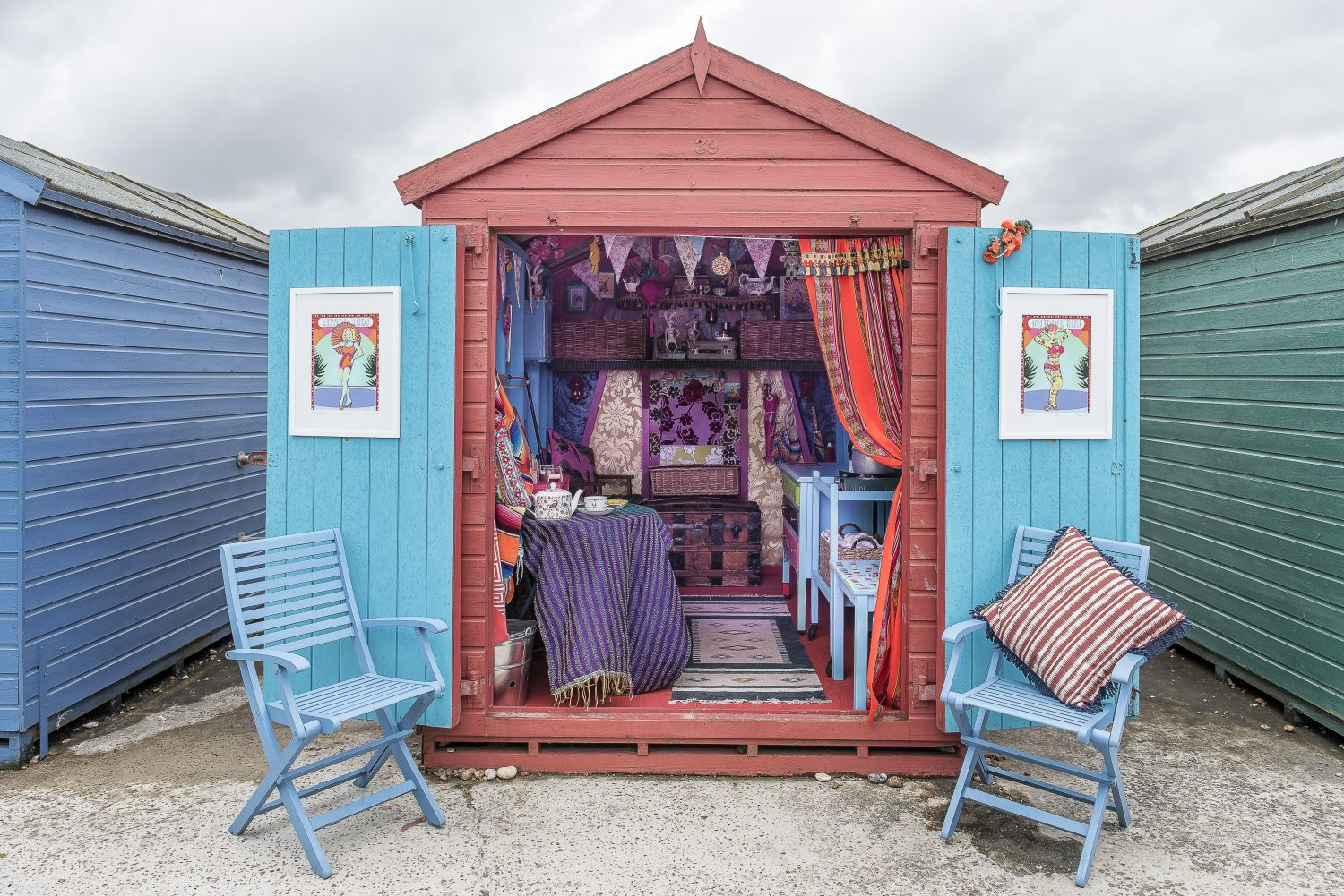 The beach hut in St Leonards that Annemarie shares with her friends Lulu Cousin and Tiff McGinnis