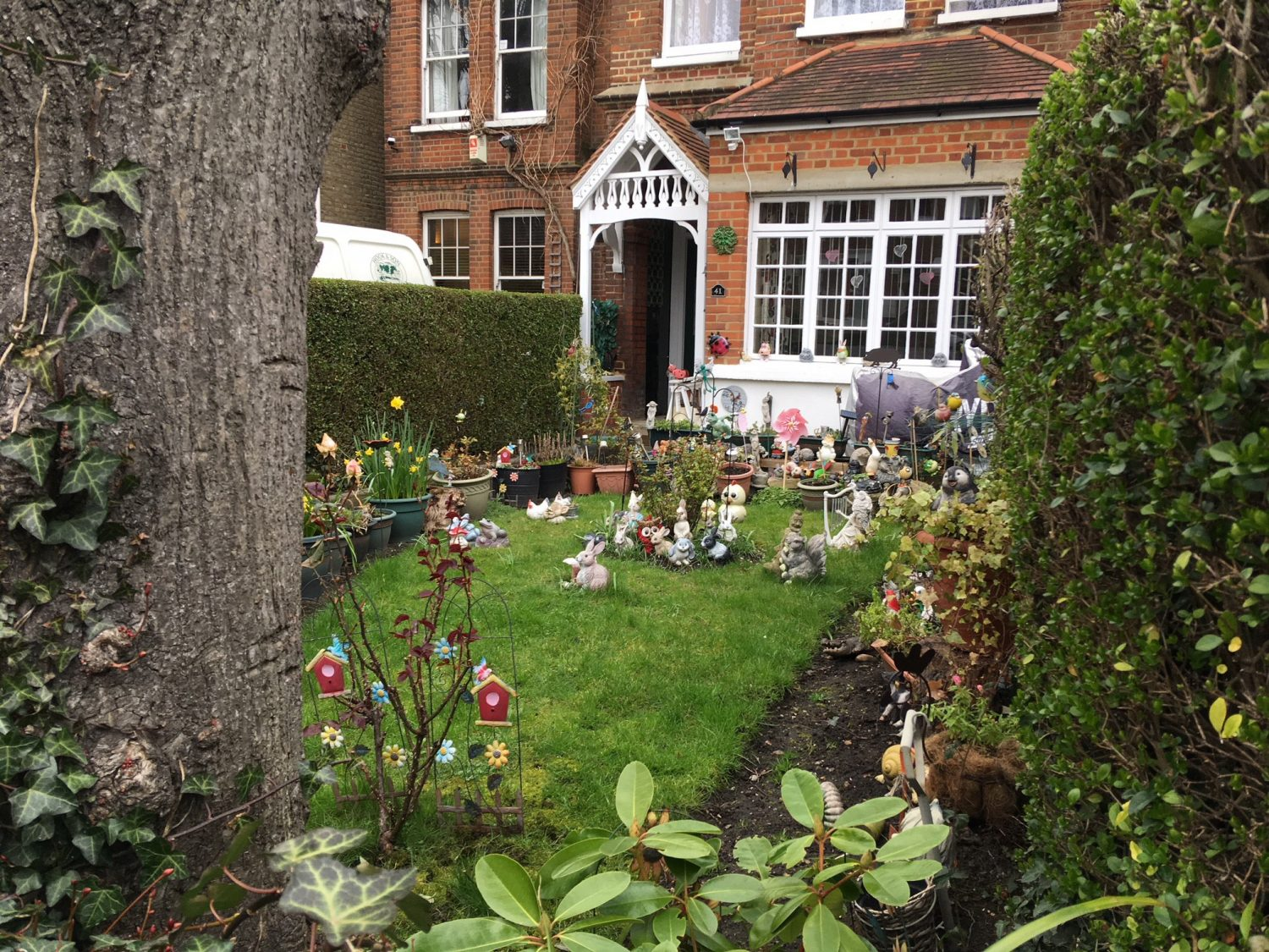 A characterful front garden seen on a trip to Putney