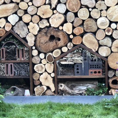 Bug hotels for overwintering insects