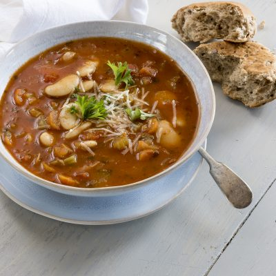 Autumn Butter Bean and Vegetable soup
