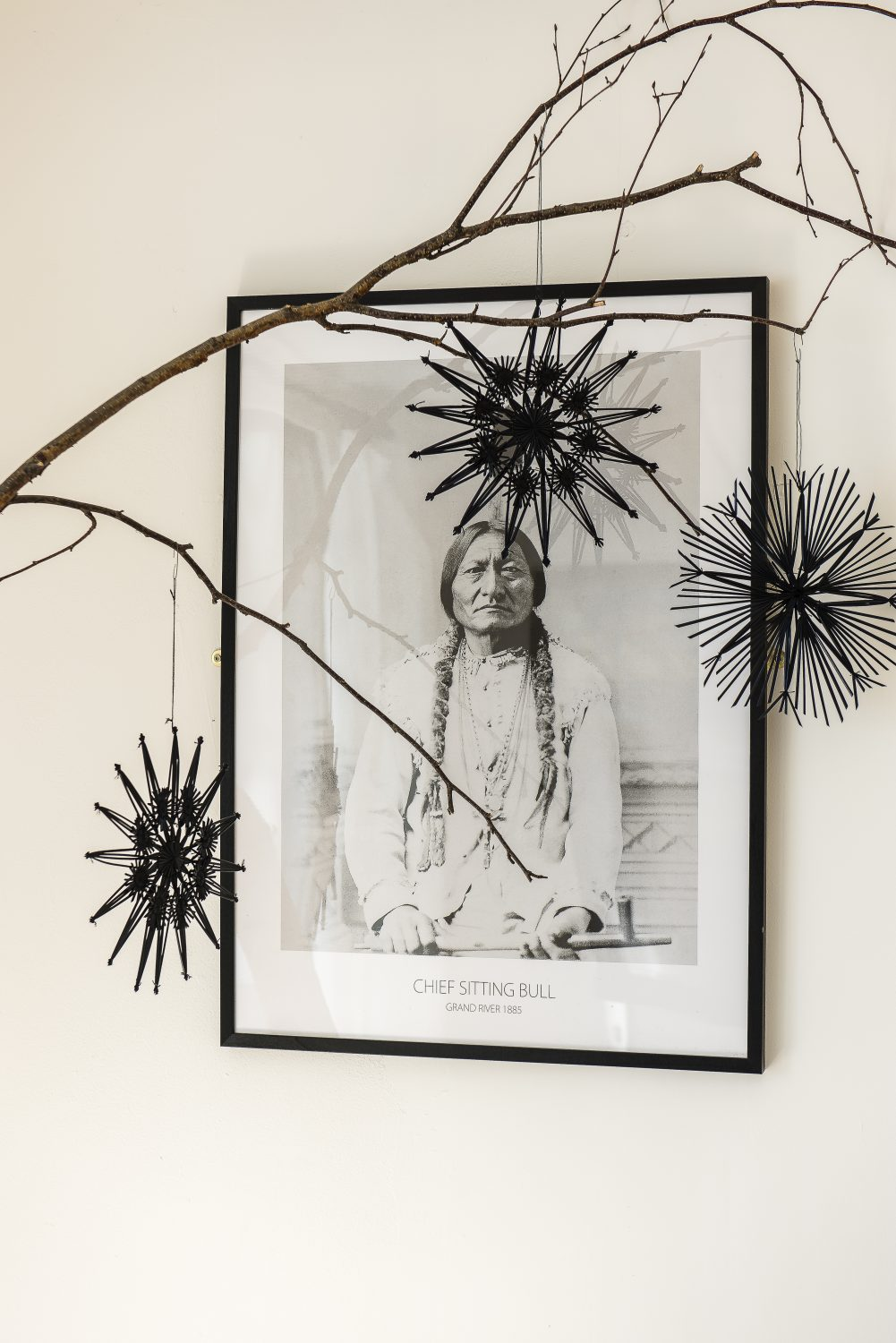 The portrait of Sioux Chief Sitting Bull is from desenio.co.uk