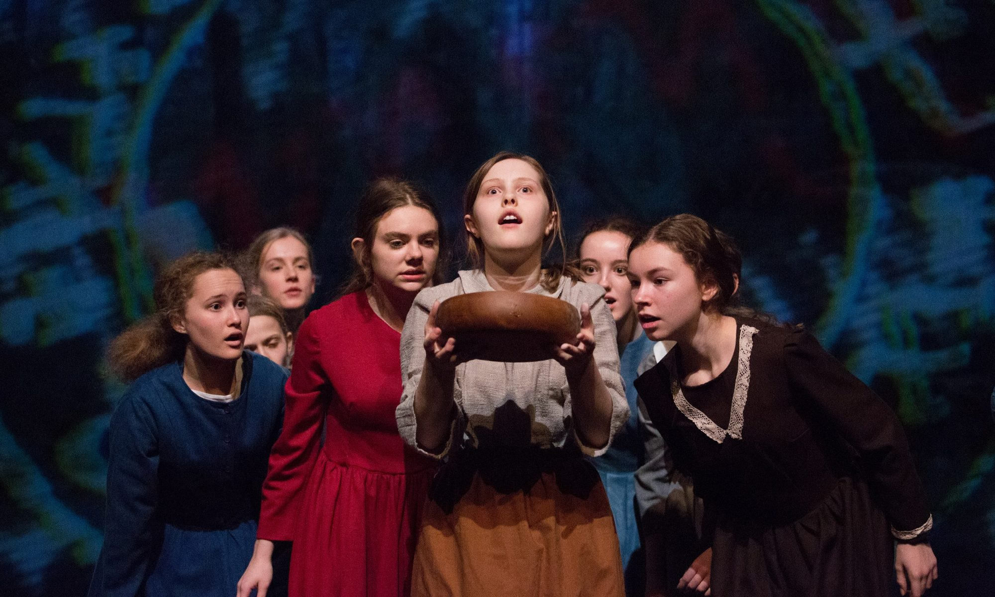 Pupils from St Catherine's, Guildford in a production of The Crucible