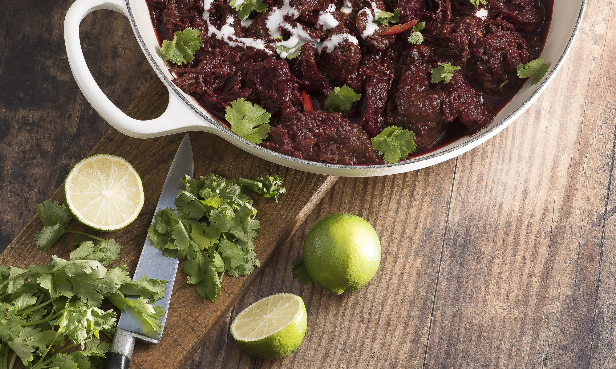 Slow Cooked Beef and Beetroot Curry
