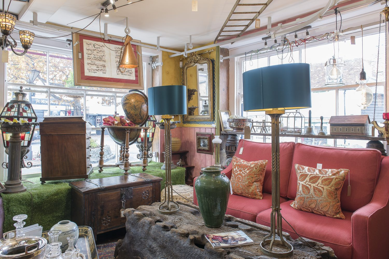 Will and Nick's antiques shop underneath the flat was initially opened to sell all the things they couldn't fit into their new home from their previous large house