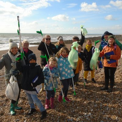 Claremont School, Bodiam & St. Leonards on Sea Eco Warriors go beach cleaning in Hastings