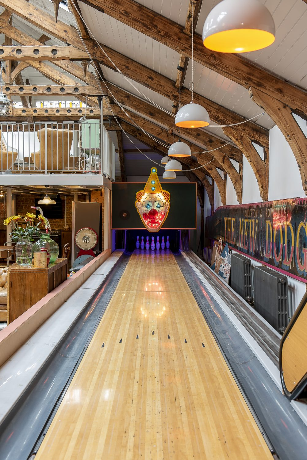 """The bowling alley used to be in Soho House,"" says Laurie. ""Sol heard they were getting rid of it and asked if he could buy it and they told him, if he took it out, he could have it."