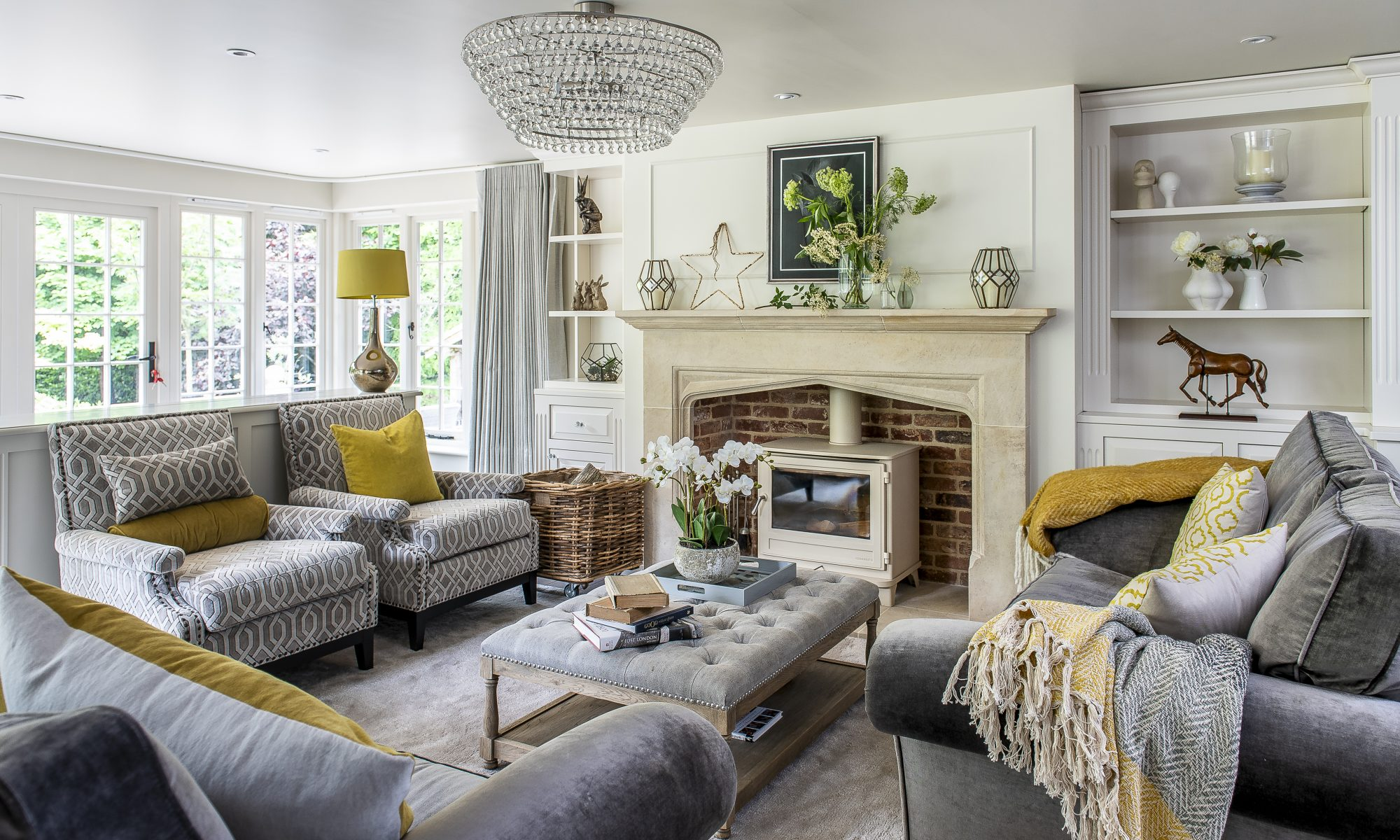 A real fire was top of Rafe's list for establishing that basic sense of contentment and family wellbeing. They chose The Fireplace Company in Crowborough to supply and fit all the fireplaces and wood burning stoves.