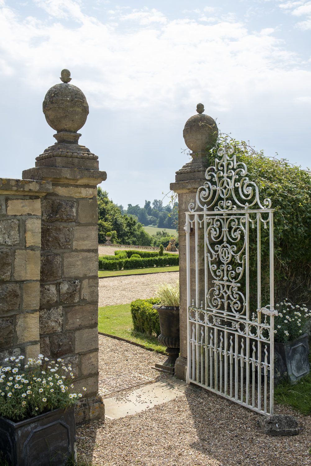 The stunning landscape that surrounds Bayham Hall can be enjoyed at every turn in the house and garden