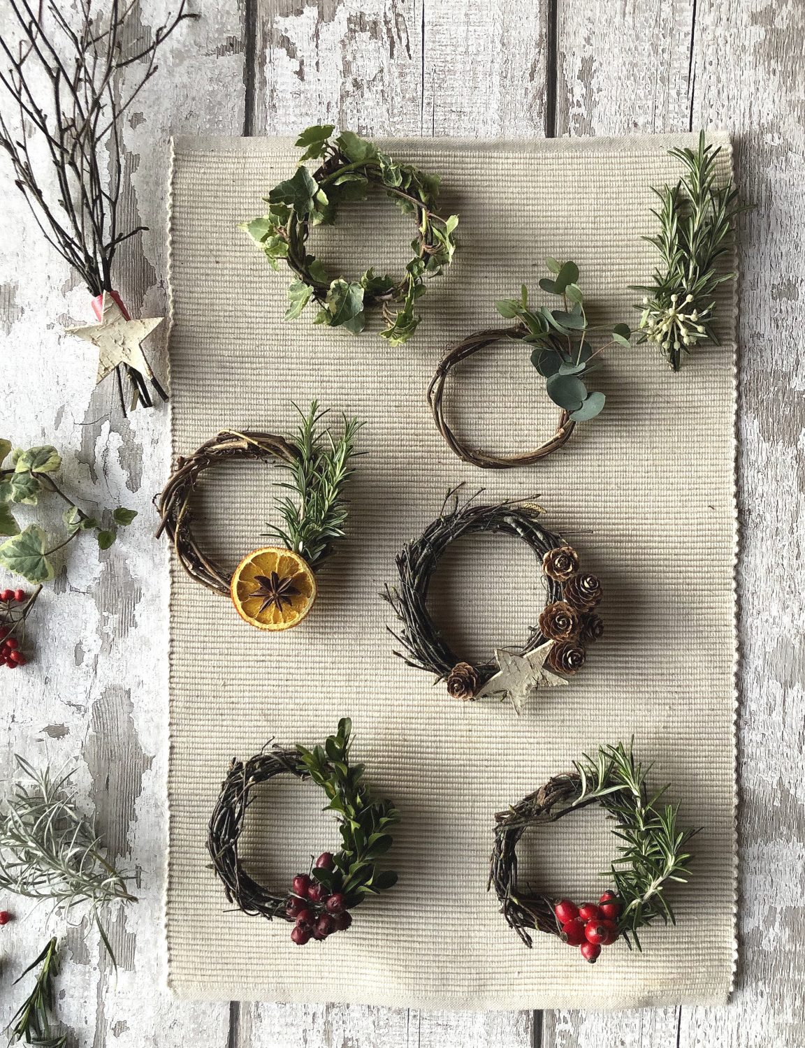 Foraged decorations