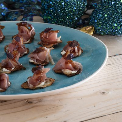 Artichoke Crisps with Black Forest Ham