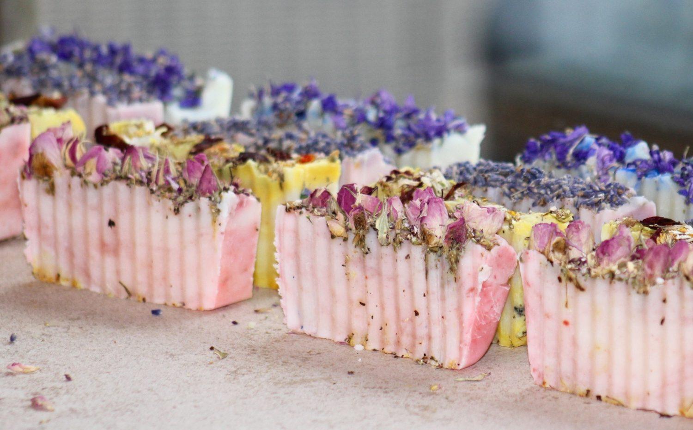 Homemade botanical soap