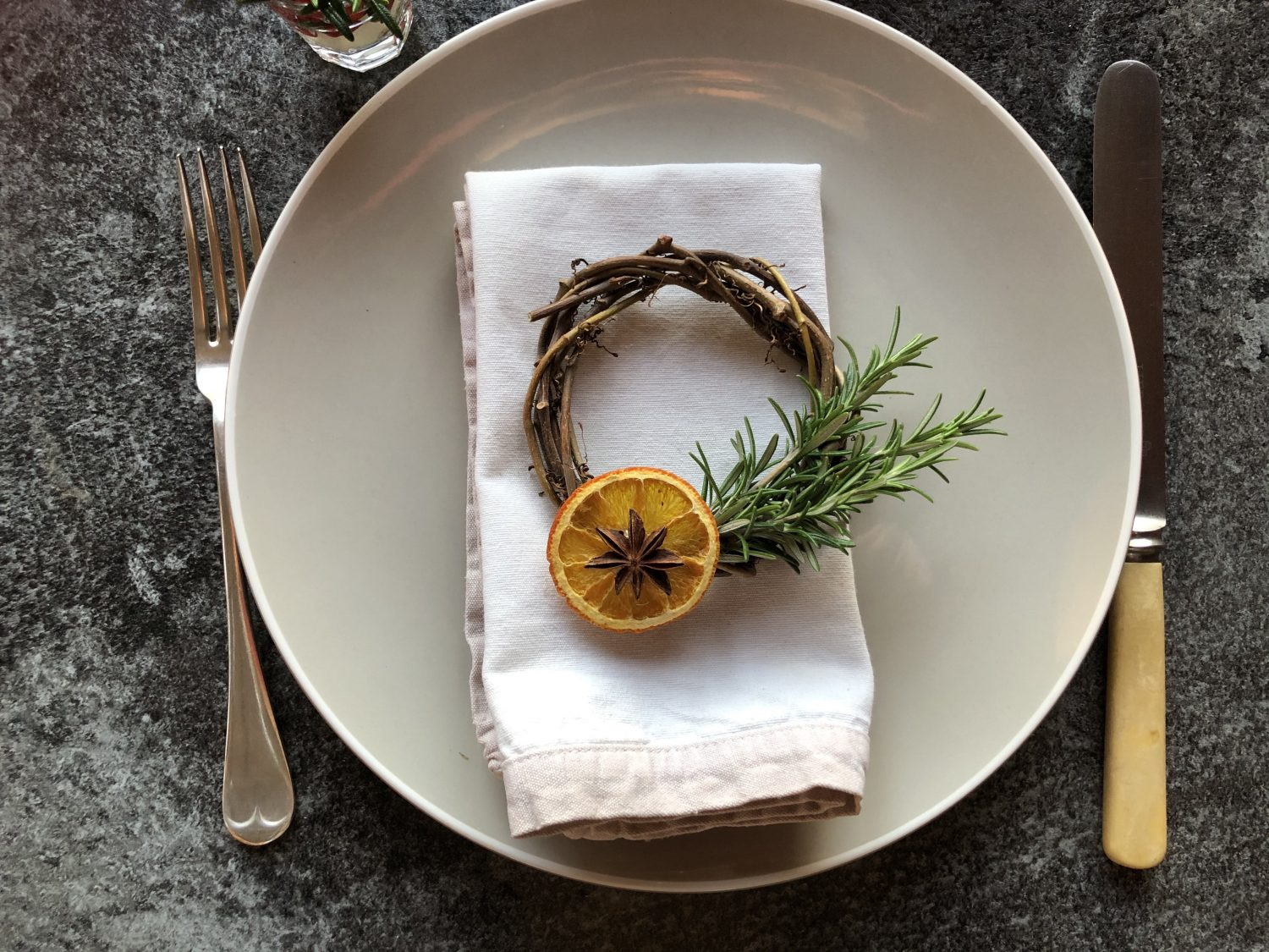 Rosemary place setting