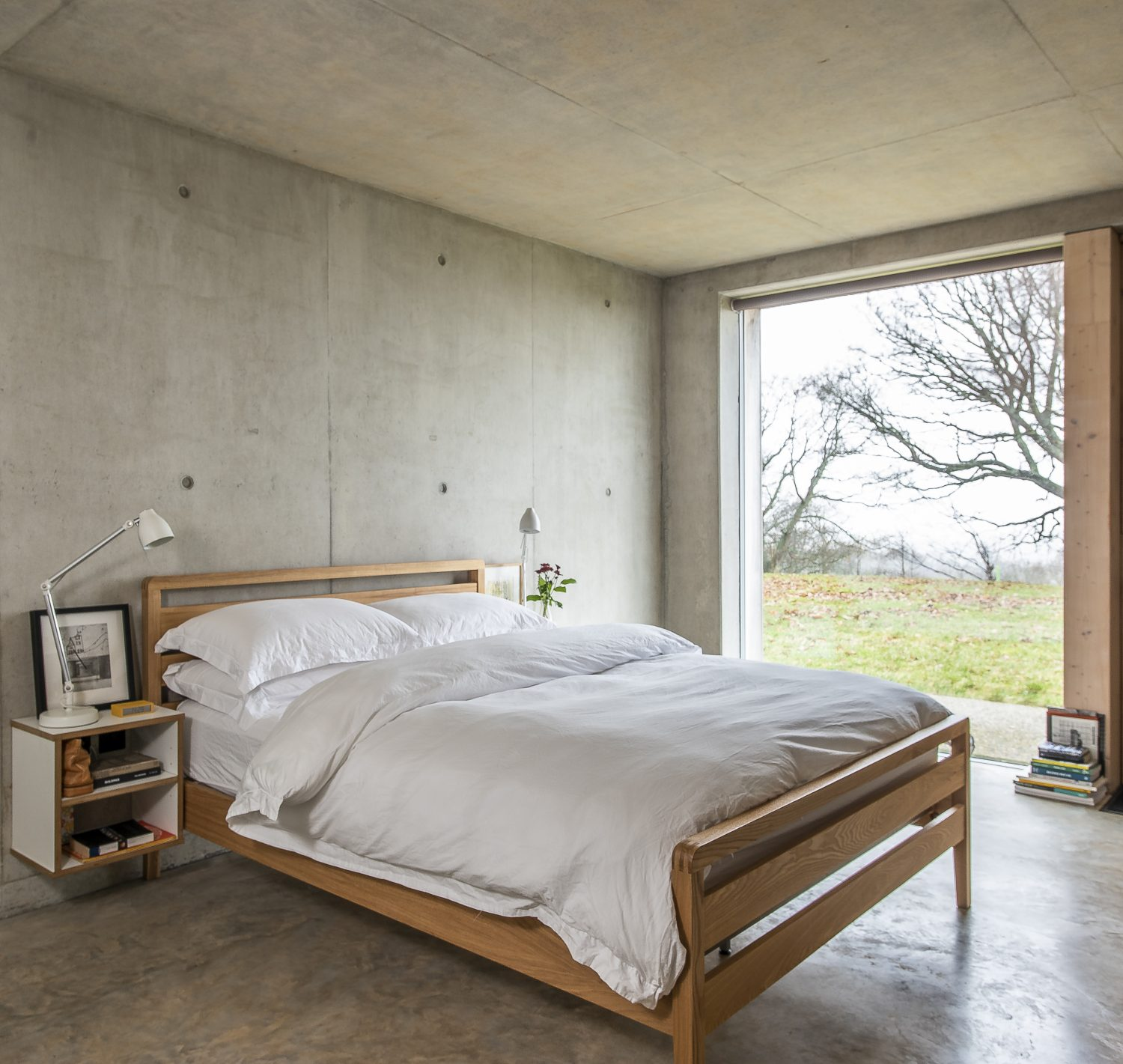 The three downstairs bedrooms all make the most of the wonderful rural vistas. There's no shortage of carefully considered accessible storage throughout