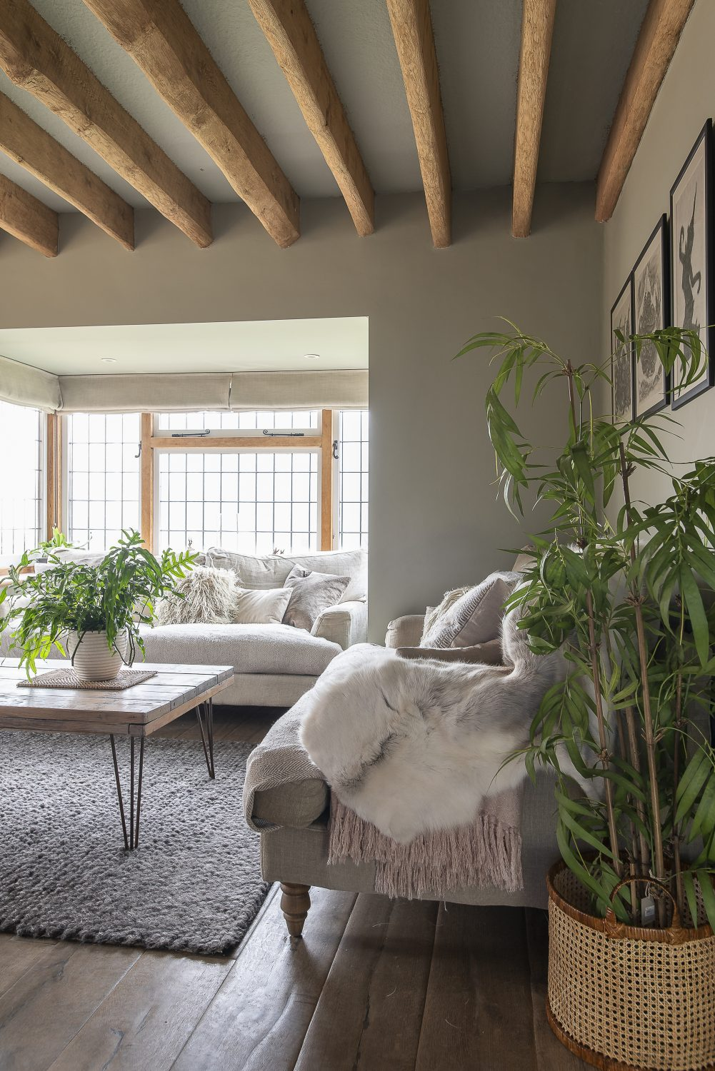 Justine restructured the interior, taking out internal walls and replacing windows with French doors and tri-folds to let light flood in from the front, the side and rear of the house