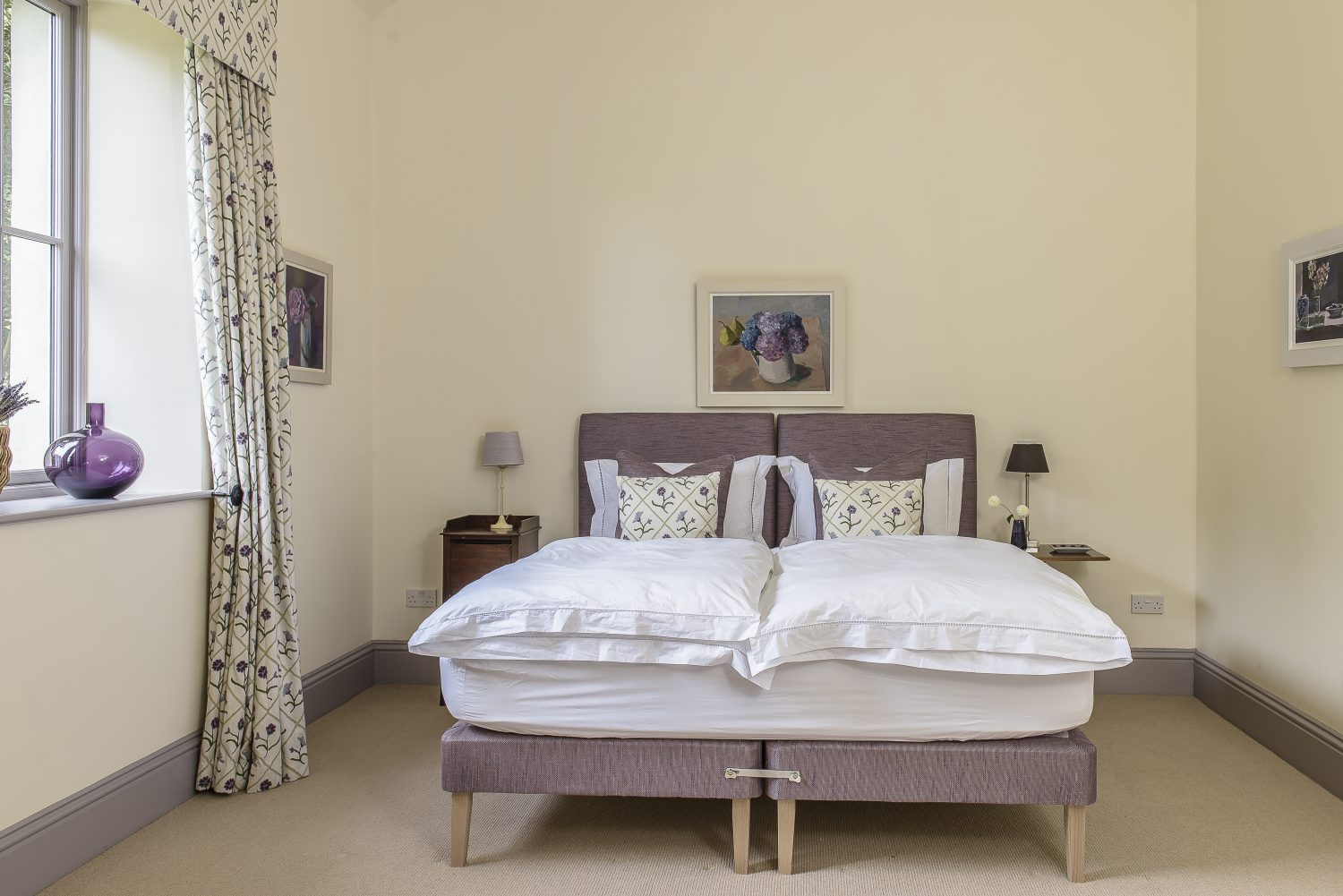 Situated in the main house, the Lilac Room exudes luxury and comfort.