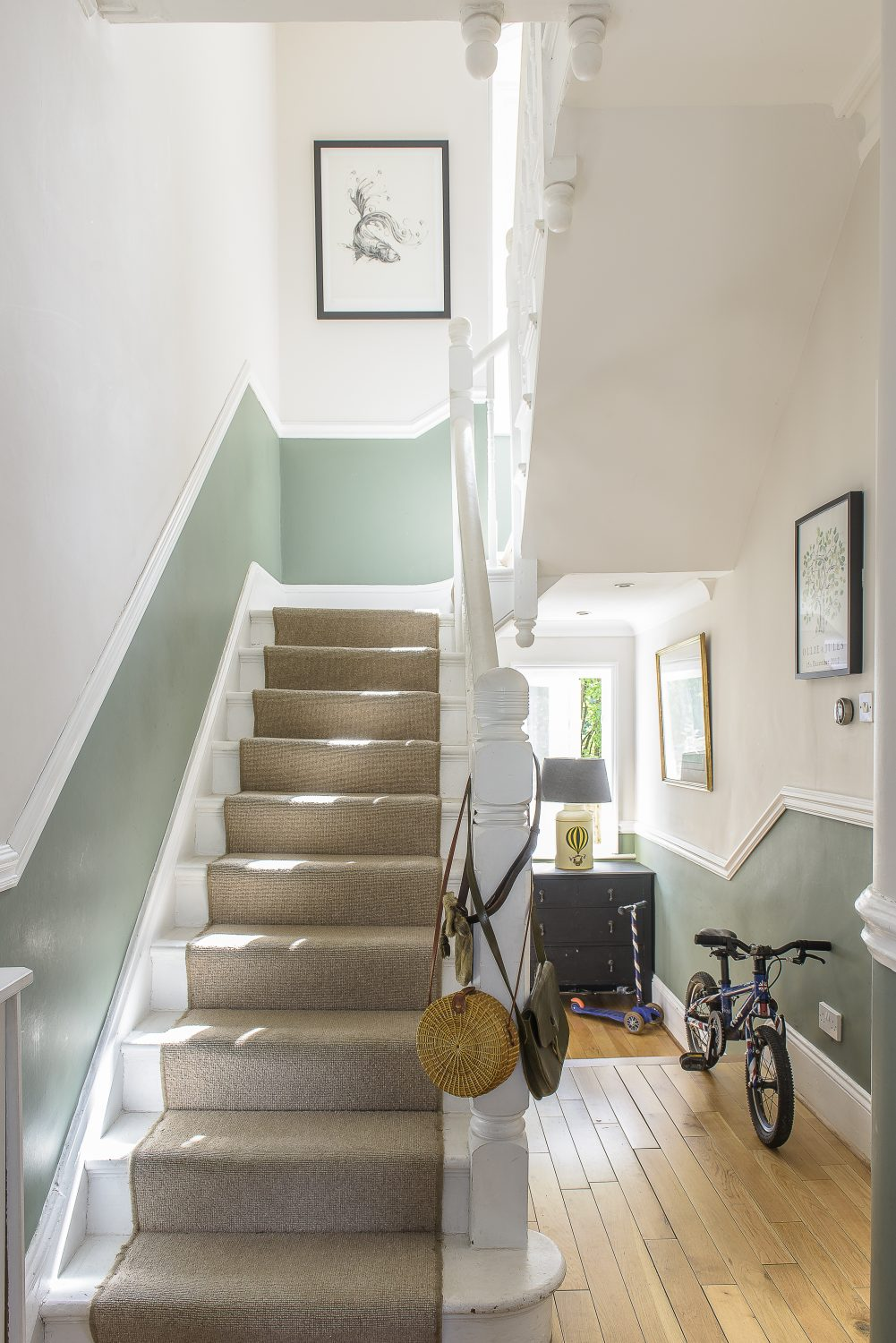 The couple reinstated the dado rail throughout the house