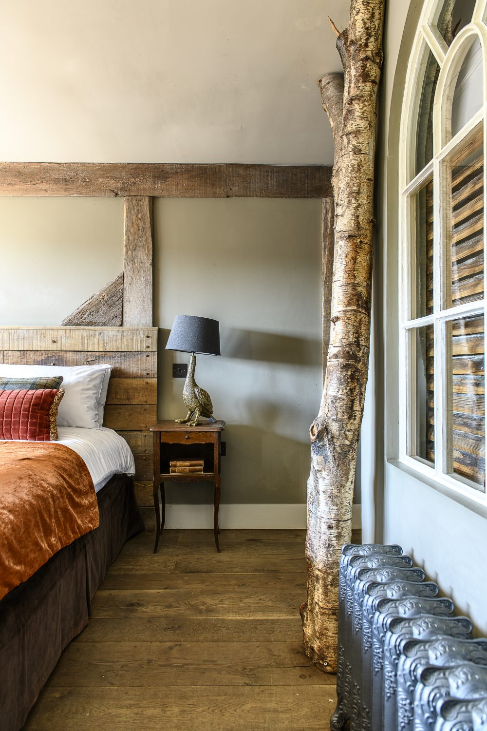 The Anything is Possible double bedroom features The Bell's signature 'inside' trees