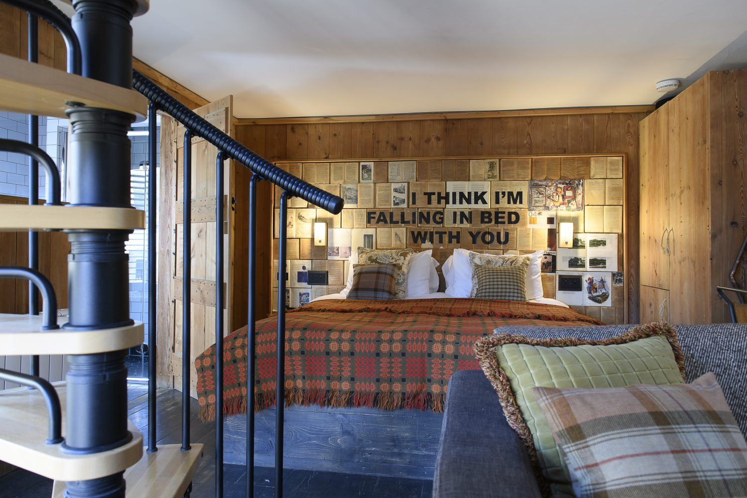 Between The Lines is one of The Bell's lodges, complete with a mezzanine floor that's perfect for relaxing